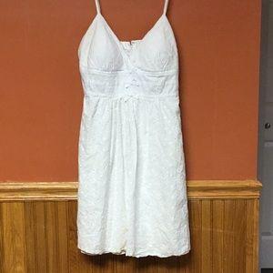 Dresses & Skirts - White Eyelet Short Dress Size 11